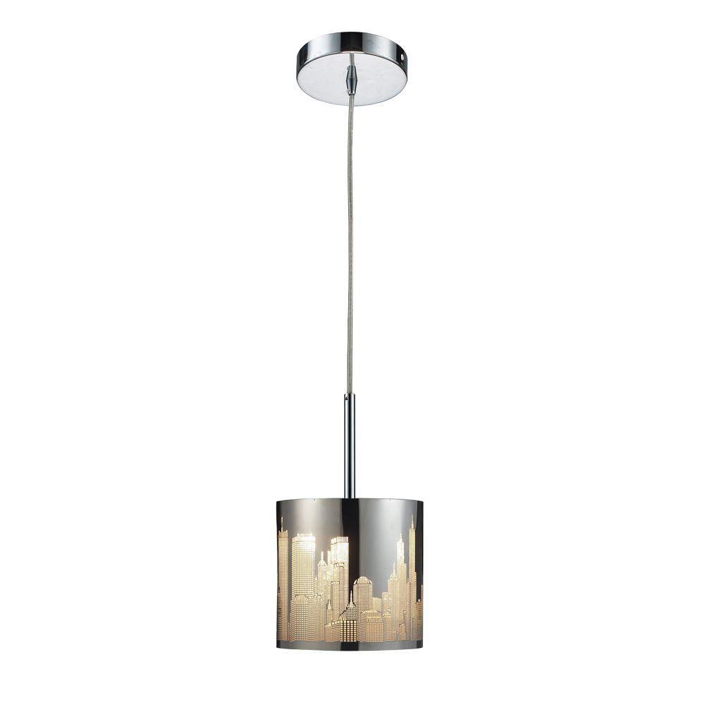 Titan lighting luminaire suspendu 1 ampoule en acier for Home depot luminaire suspendu interieur