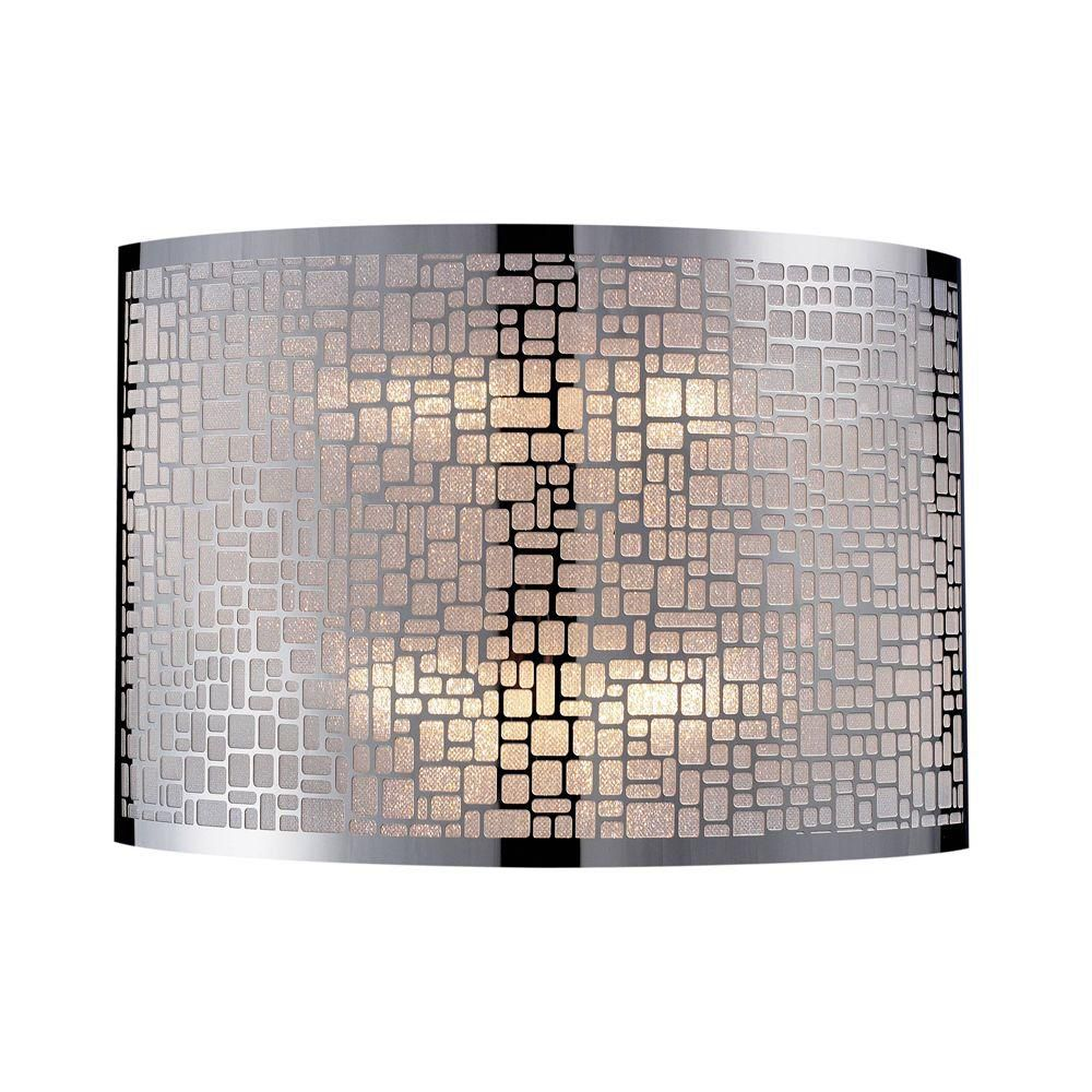 2-Light Polished Stainless Steel Sconce