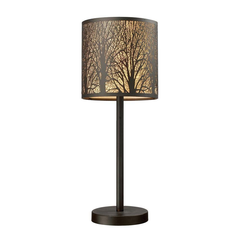 20 Inch Aged Bronze Portable Lamp