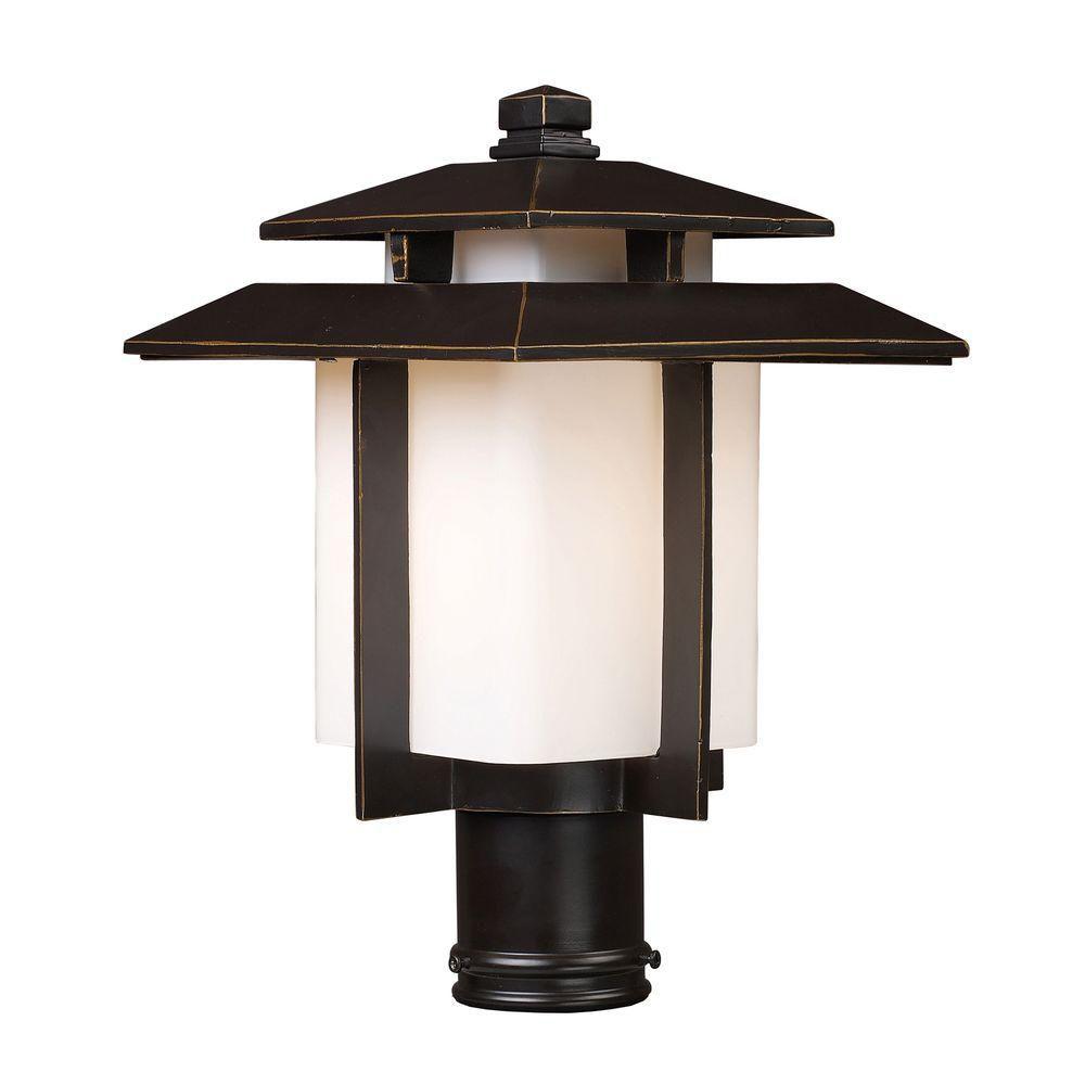 Titan lighting luminaire ext rieur pour poteau 1 ampoule for Luminaire poteau exterieur
