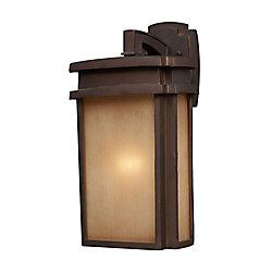 Titan Lighting Applique murale extérieure à 1 ampoule au fini bronze argile