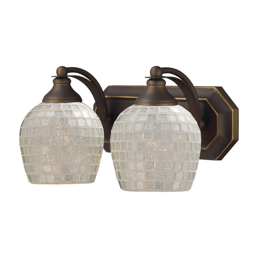 Titan lighting applique murale 2 ampoules au fini bronze for Applique murale 2 ampoules