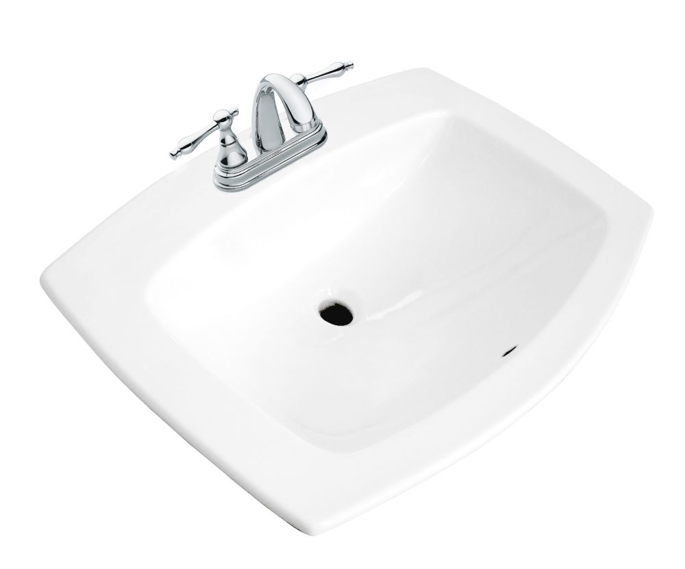 Glacier bay galla rectangular drop in bathroom sink in - Glacier bay drop in bathroom sink ...