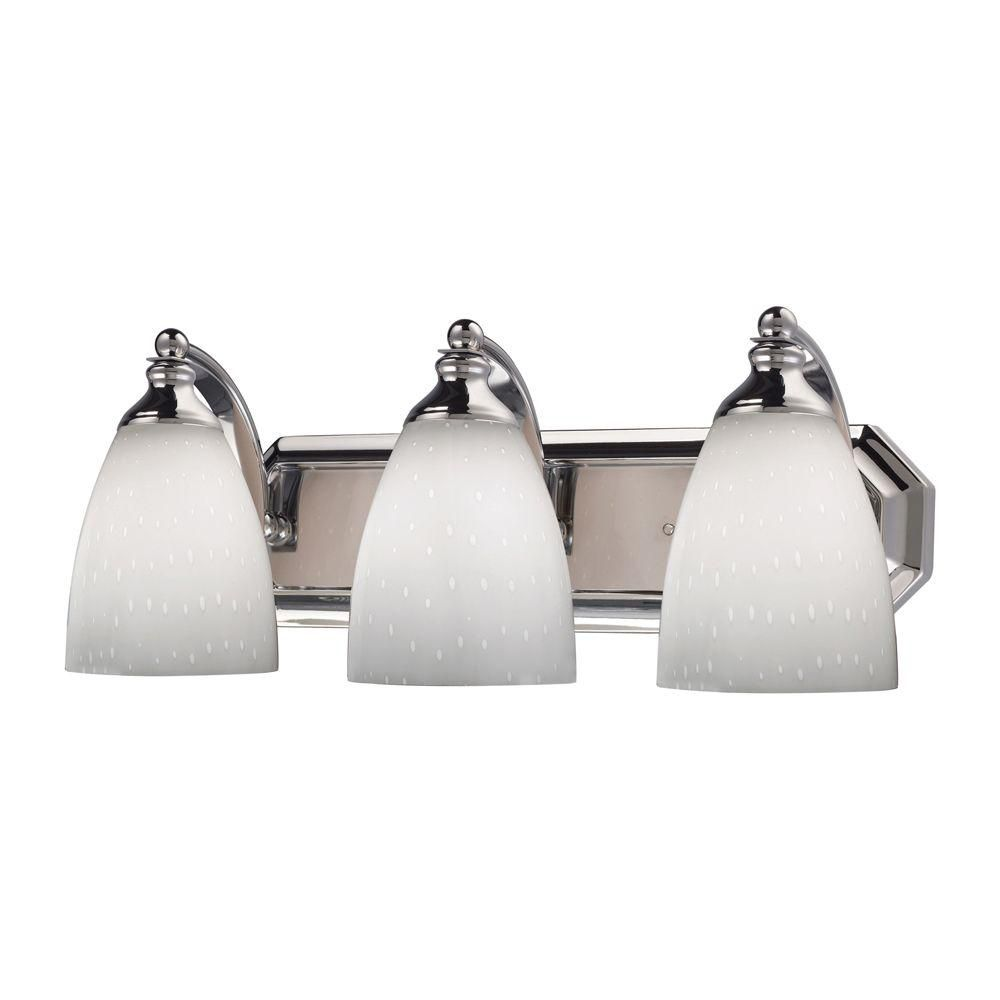 3-Light Wall Mount Polished Chrome Vanity