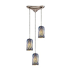 titan lighting luminaire suspendu 3 ampoules au fini nickel satin home depot canada. Black Bedroom Furniture Sets. Home Design Ideas