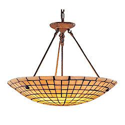 Titan Lighting 8-Light Ceiling Mount Dark Antique Brass Pendant