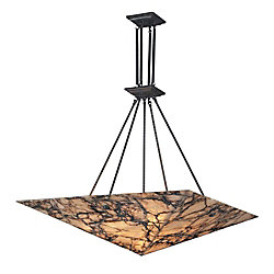 Titan Lighting 9-Light Ceiling Mount Antique Brass Pendant