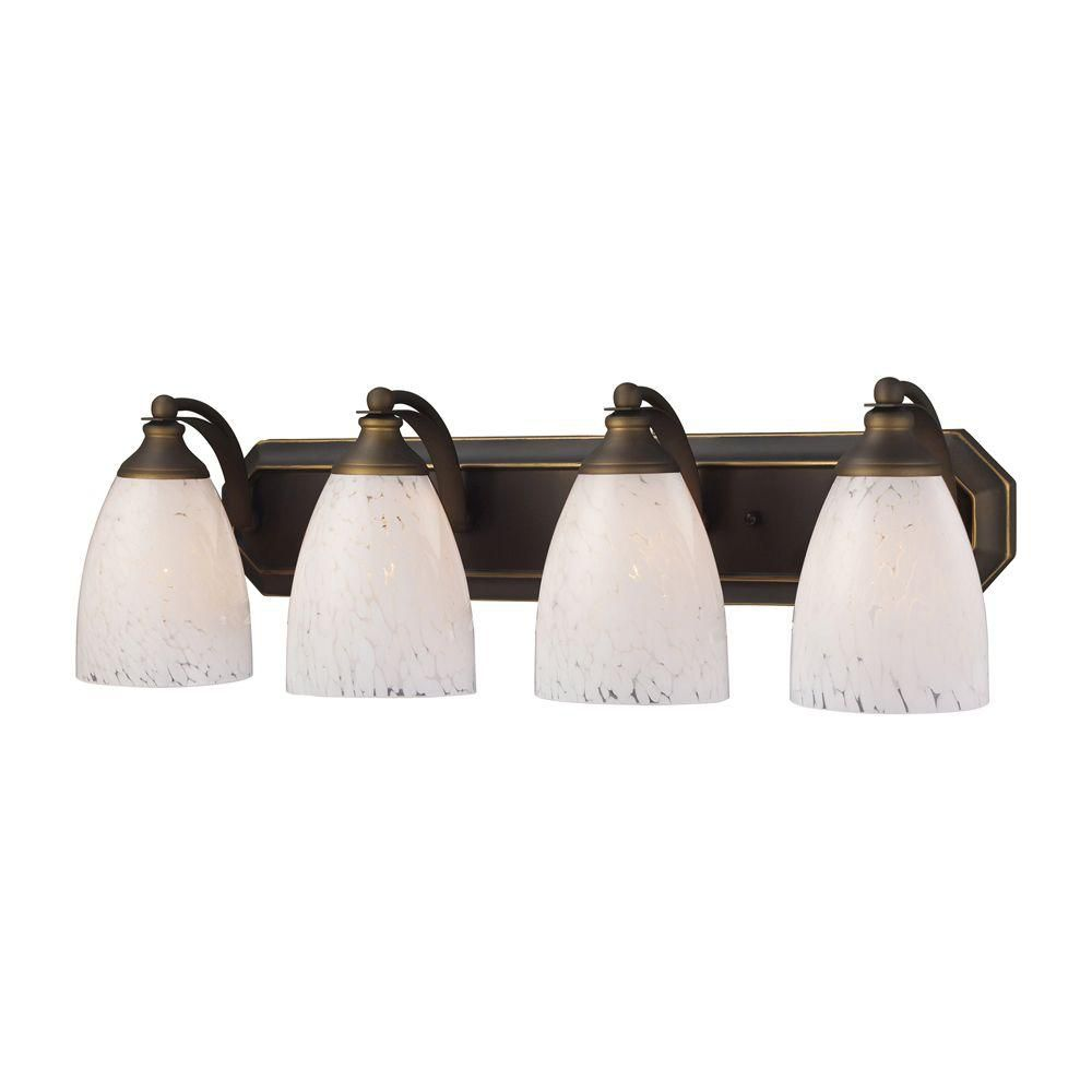 4-Light Wall Mount Aged Bronze Vanity