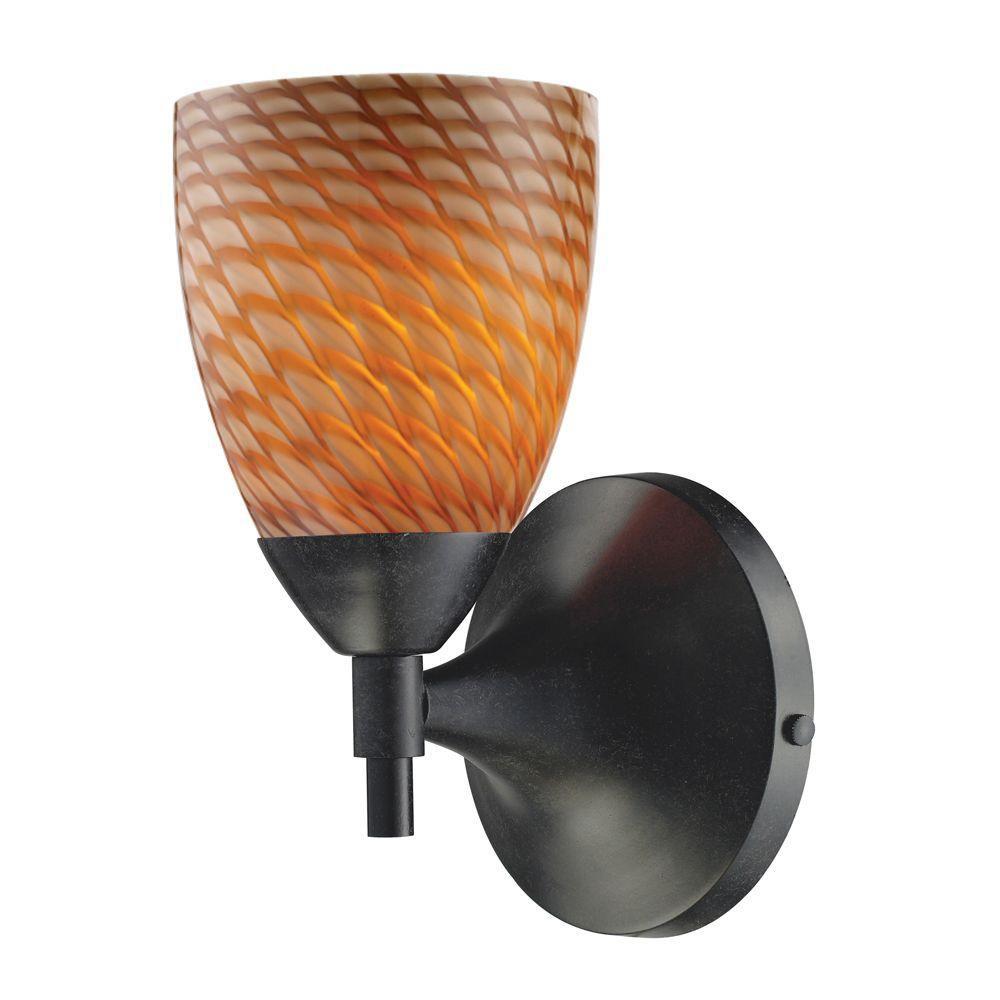 Titan Lighting  Applique murale à 1 ampoule au fini rouille sombre