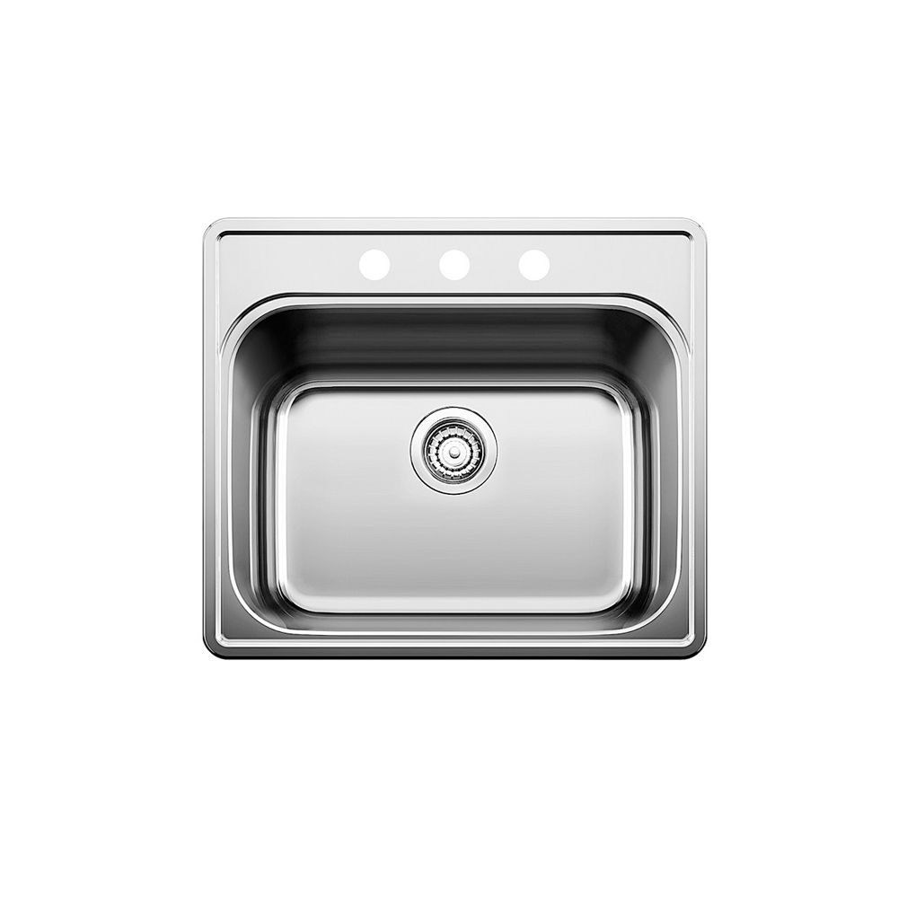 Essential Laundry Tub 3 Hole - Stainless Steel 401203 in Canada