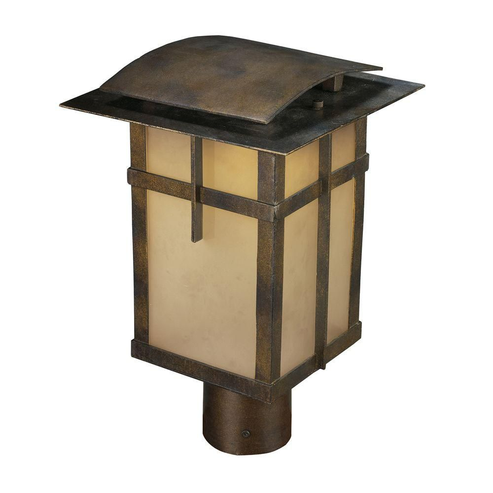 1-Light Hazelnut Bronze Title 24 Compliant LED Outdoor Post Light