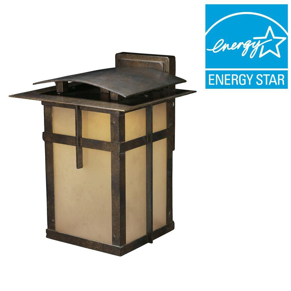 1-Light Wall Mount Hazelnut Bronze Title 24 Compliant LED Outdoor Sconce