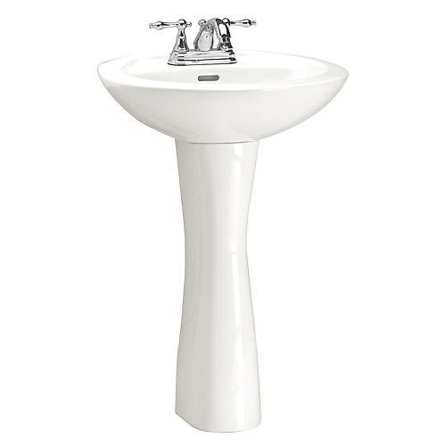 Lavabo sur colonne première qualité, robinet vendu séparément, 23 7/8 po L x 19 1/4 po P x 33 5/8 po H