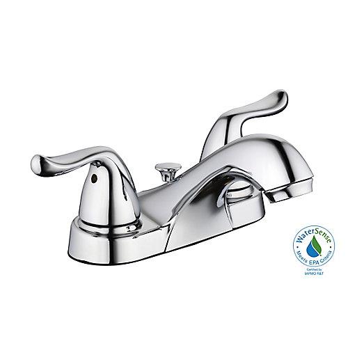 Robinet de lavabo 1500 Series col de cygne à 2 poignées à levier et orifice central de 4 po, chrome