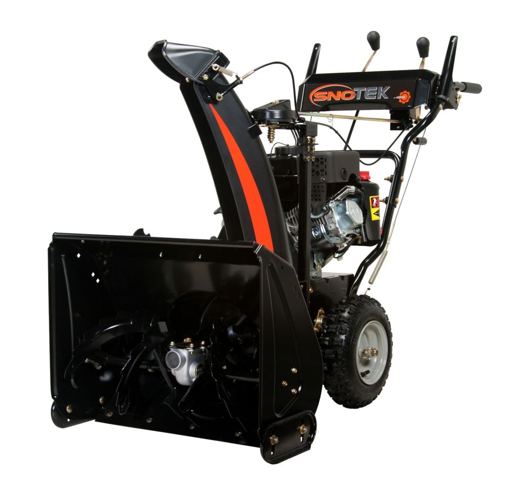 Sno-Tek 24 120V 6-Speed Electric Start Gas Snow Blower with 24-inch Clearing Width