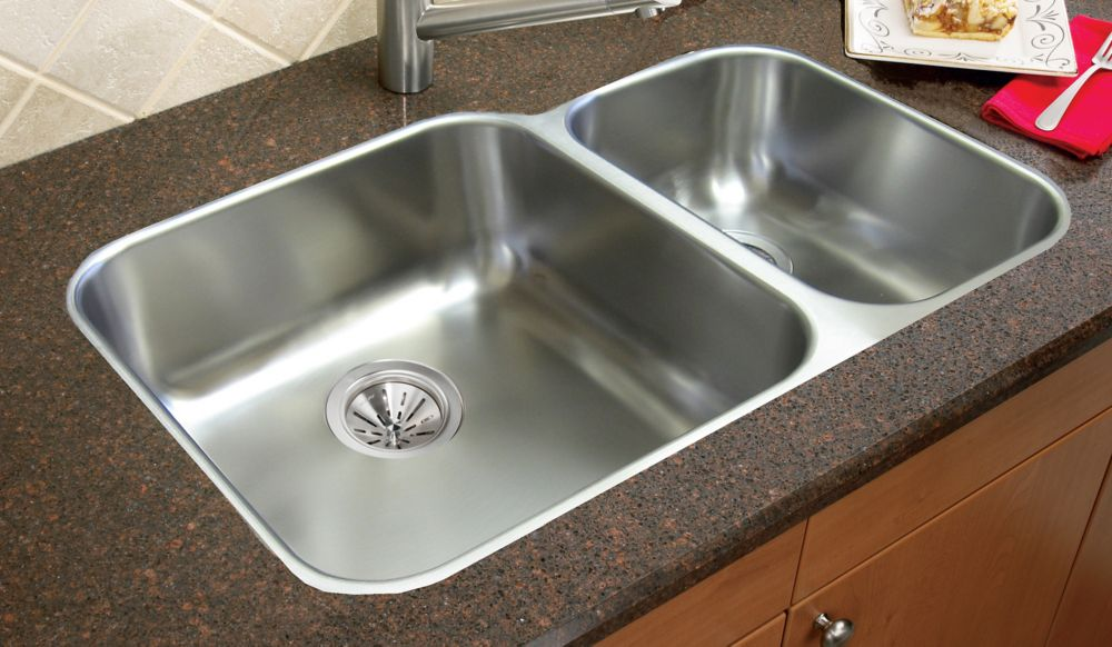 One And A Half Undermount Sink 20 Gauge Stainless Steel - 29 Inch x 20 ...