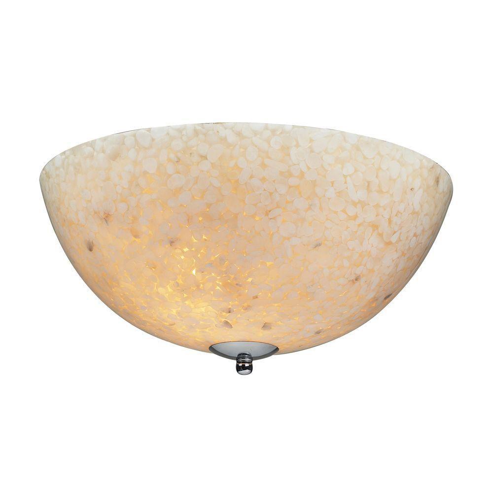 2-Light Ceiling Mount Satin Nickel Semi Flush