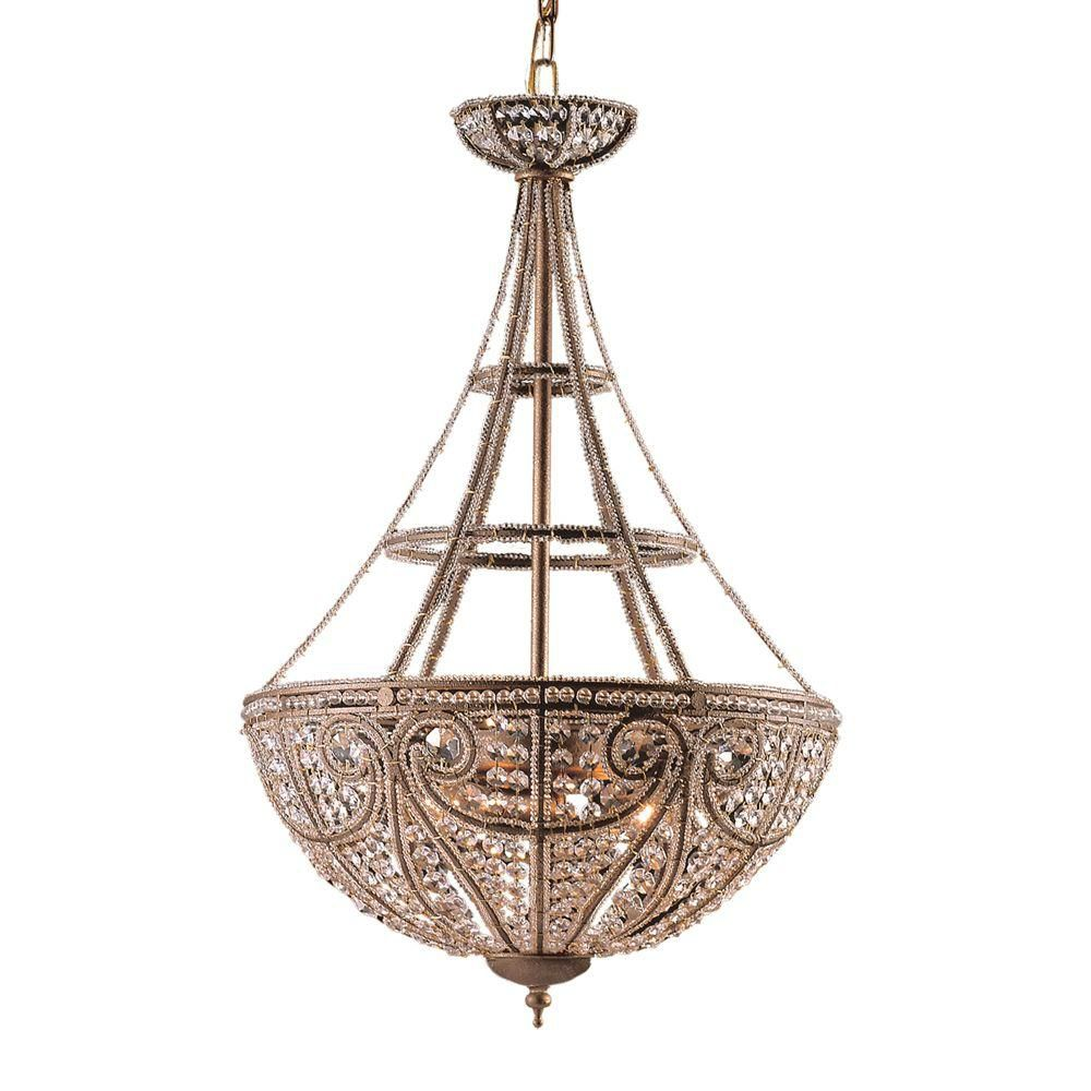lighting 4 light ceiling mount dark bronze pendant the home depot. Black Bedroom Furniture Sets. Home Design Ideas