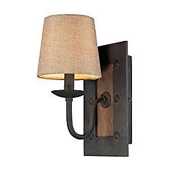 Titan Lighting 1-Light Wall Mount Vintage Rust Sconce