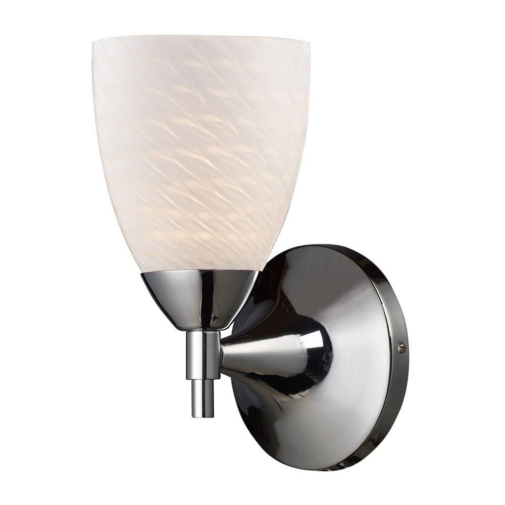 1-Light Wall Mount Polished Chrome Sconce