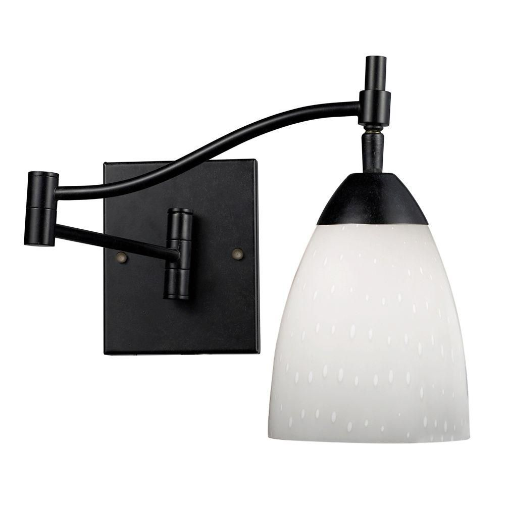 Titan Lighting  Applique murale à 1 ampoule au fini rouille sombre Swingarm
