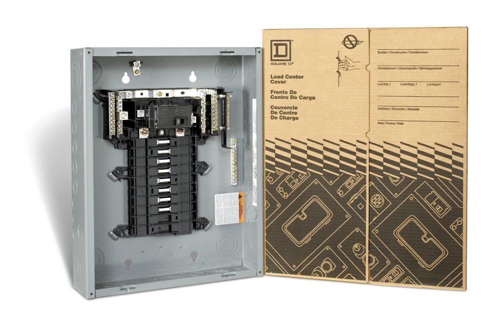Tableau de répartition à disjoncteur principal de 60A Square D, 16espaces et 32 circuits max.