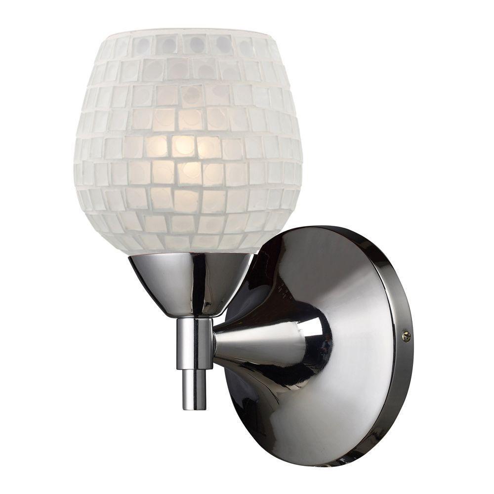 Titan Lighting  Applique murale à 1 ampoule au fini chrome poli