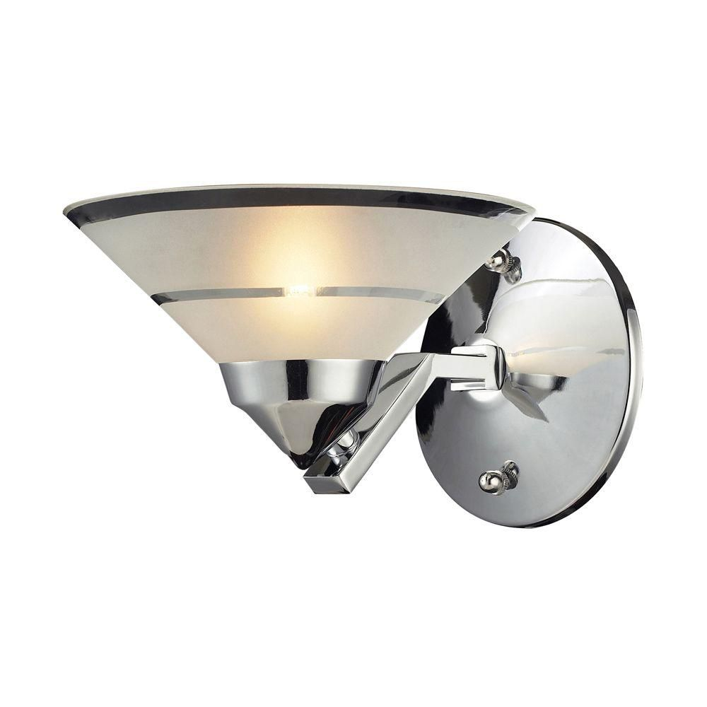 Titan lighting applique murale 1 ampoule au fini chrome - Applique murale ampoule ...