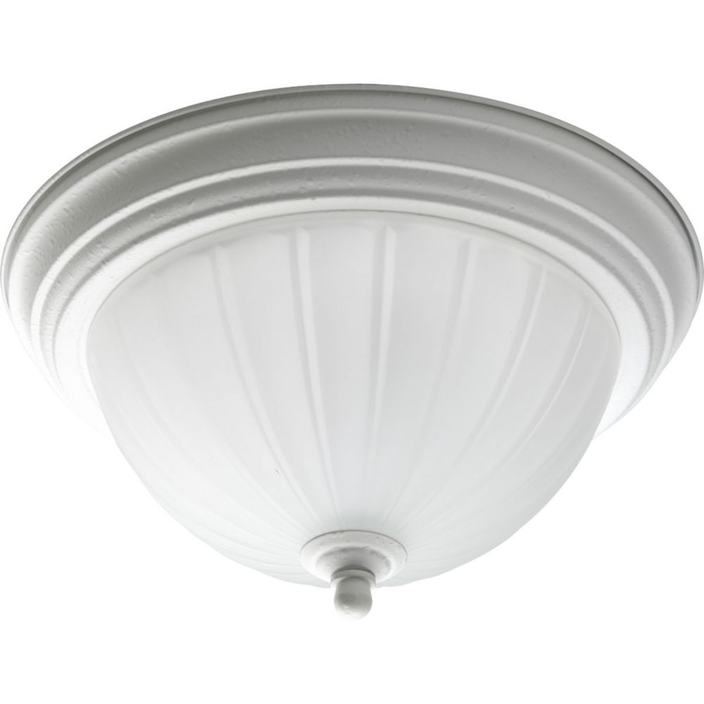 1 Light White Flushmount