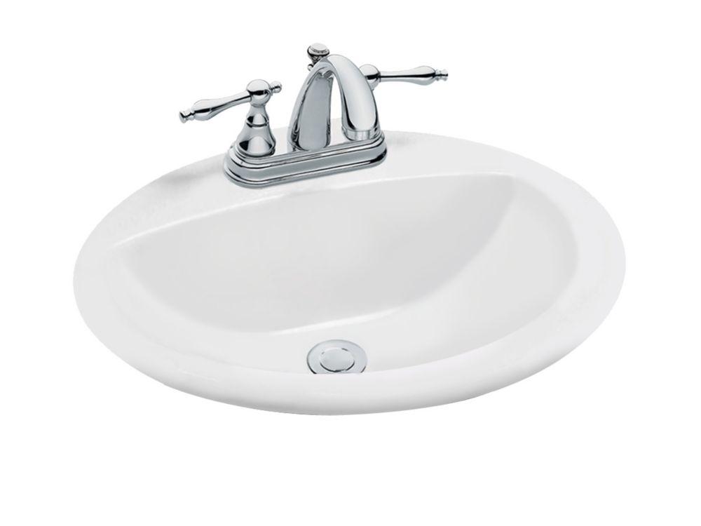 Lavabo ovale à encastrer, blanc