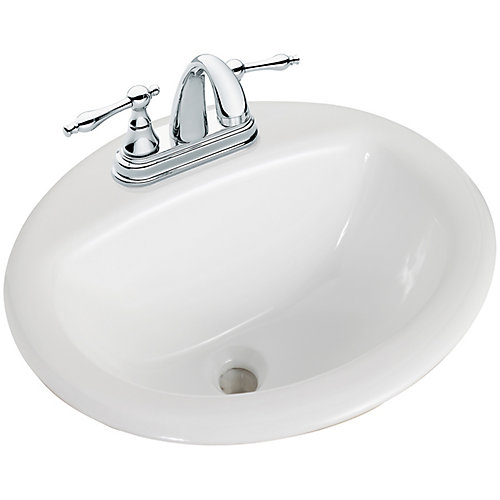 Bathroom Sink 500 X 400 glacier bay round drop-in bathroom sink in white | the home depot