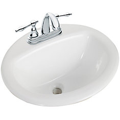 bathroom sink. Round Drop-In Bathroom Sink 0