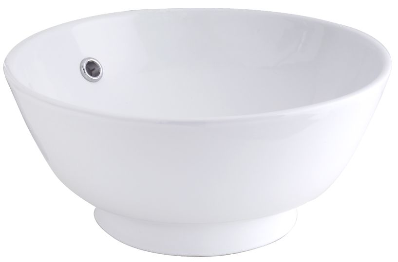 Round Vessel Sink in White