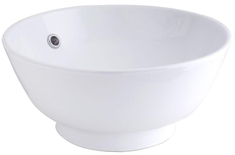 GLACIER BAY Round Vessel Sink in White