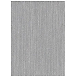 Belanger Laminates Inc P-623-CA Laminate Countertop Sample in Brushed Aluminium