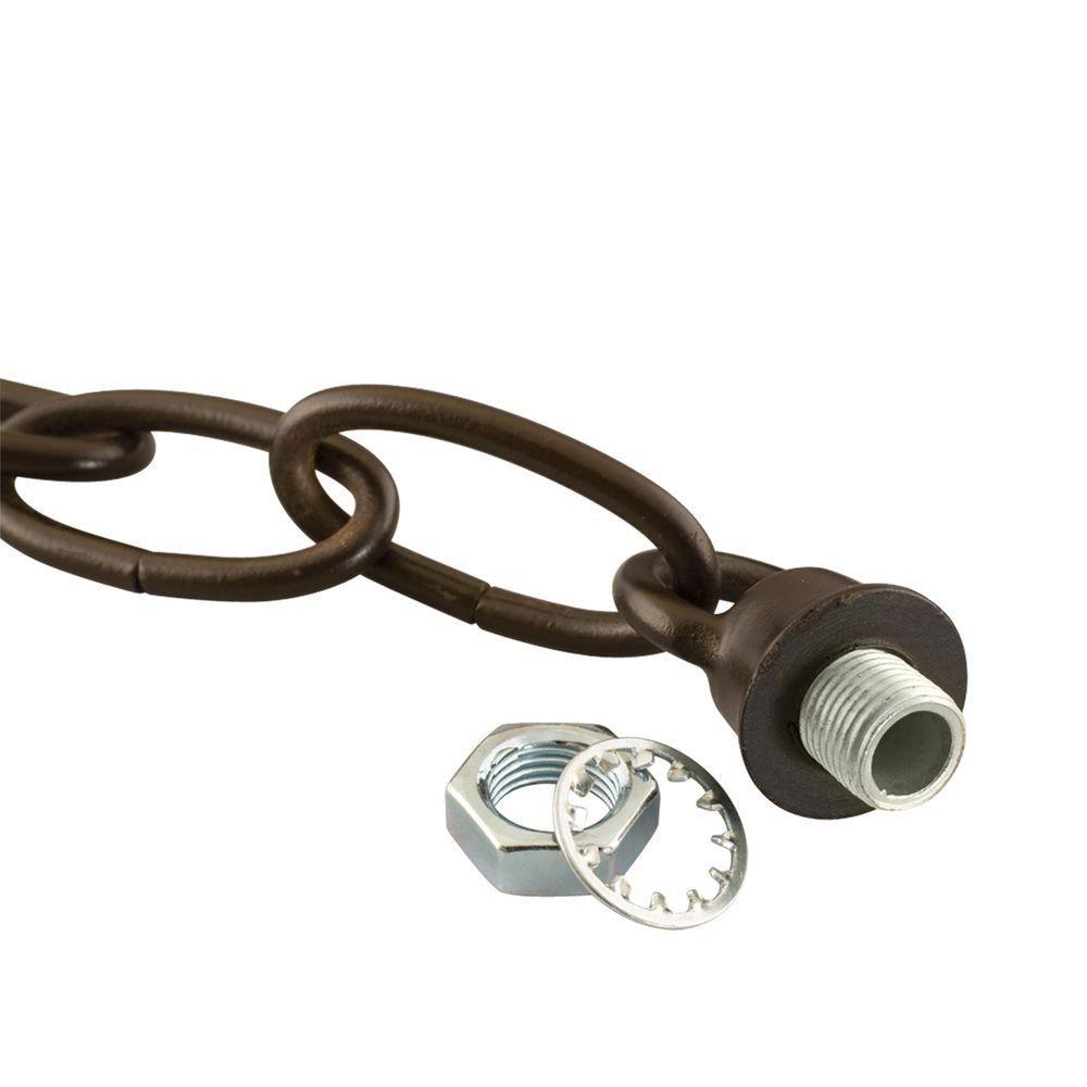 Ensemble de boucle et chaîne de fini en bronze de cuivre
