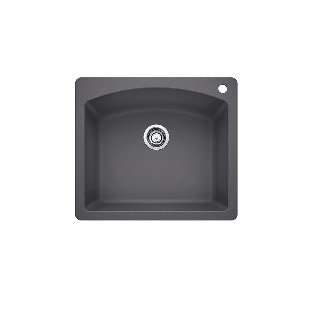 Diamond 1 Cinder SILGRANIT Sink CDN, Drop- in