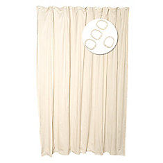Shower Liner And Ring Combo - Beige