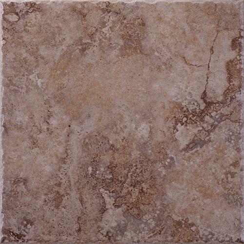 Eliane Lancaster Brown 12 Inch x 12 Inch Glazed Porcelain Floor & Wall Tile  -( 14.53 Sq. Ft. / Case)