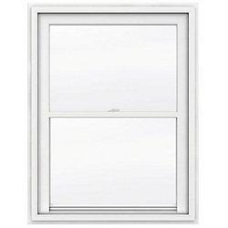 JELD-WEN Windows & Doors 36-inch x 48-inch 5000 Series Single Hung Vinyl Window with J Channel Brickmould - ENERGY STAR®