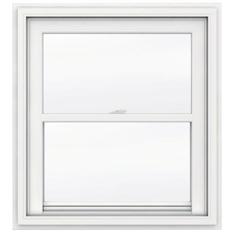 30-inch x 48-inch 5000 Series Single Hung Vinyl Window with J Channel Brickmould