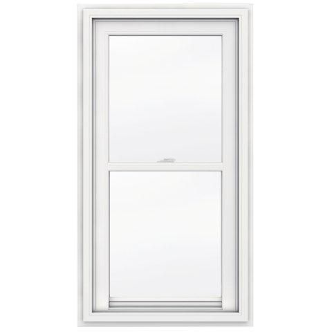 24-inch x 48-inch 5000 Series Single Hung Vinyl Window with J Channel Brickmould