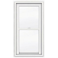 24-inch x 48-inch 5000 Series Single Hung Vinyl Window with J Channel Brickmould - ENERGY STAR®