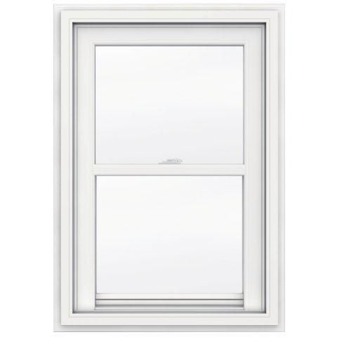 24-inch x 36-inch 5000 Series Single Hung Vinyl Window with J Channel Brickmould