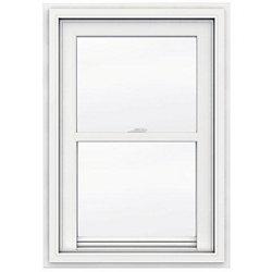 JELD-WEN Windows & Doors 24-inch x 36-inch 5000 Series Single Hung Vinyl Window with J Channel Brickmould - ENERGY STAR®