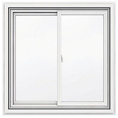 42-inch x 42-inch 5000 Series Vinyl Double Sliding Window with J Channel Brickmould - ENERGY STAR®