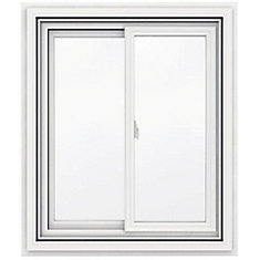 30-inch x 36-inch 5000 Series Vinyl Double Sliding Window with J Channel Brickmould - ENERGY STAR®
