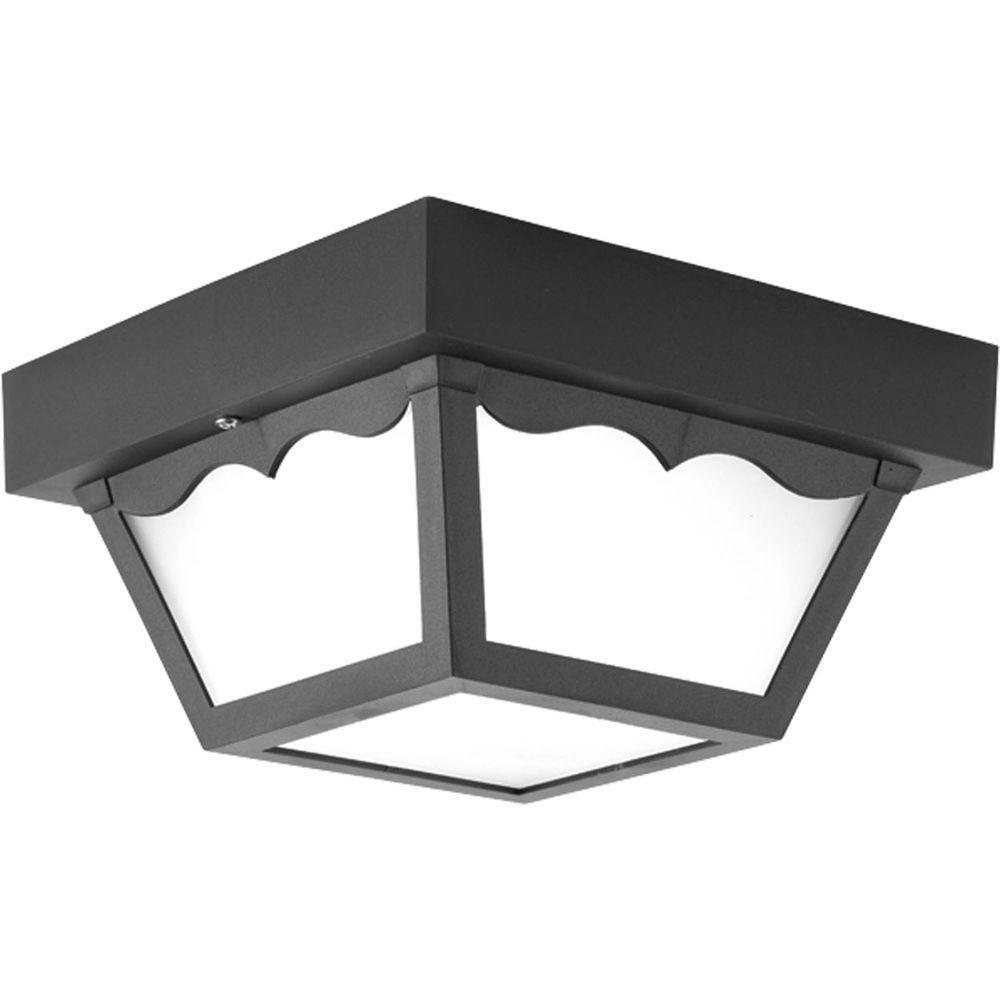 Plafonnier d'DEL à 1 Lumière, Collection Progress LED - fini Noir