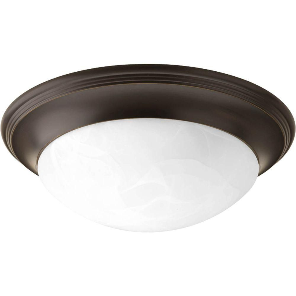 Alabaster Glass Collection 2 Light Antique Bronze Flushmount 7.85247E 11 Canada Discount