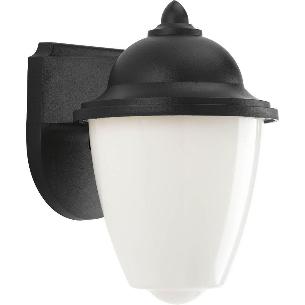Lanterne murale à 1 Lumière, Collection Progress LED - fini Noir
